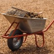 Stock Photo: Wheelbarrow full of horse shit