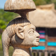 African handcraft wood carved people figures — Stock Photo
