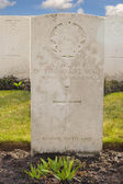 Military cemetery 1st great world war flanders belgium — Stock Photo