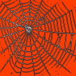 Spider web pattern for halloween orange color  — Stock Photo