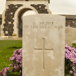 Stock Photo: Tyne cot cemetery first world war flanders Belgium
