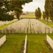Stock Photo: Tyne Cot Cemetery in Ypres world war belgium flanders