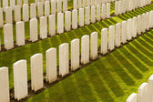 Tyne Cot Cemetery in Ypres world war belgium flanders — Stock Photo