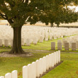 World war one cemetery tyne cot belgium flanders ypres — Stock Photo