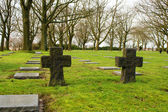 German cemetery friedhof in flanders world war one belgium — Stock Photo