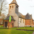 Stock Photo: Old church building in flanders fields belgium