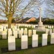 Stock Photo: Cemetery great world war one flanders belgium
