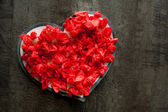 Valentine day red heart love romance passion — Stock Photo