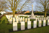 Cemetery great world war one flanders belgium — Stock Photo