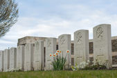 New British Cemetery in flanders fields Belgium — Stock Photo
