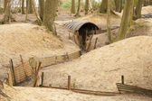 Trenches in Flanders Fields Ypres great world war one Hill 62 — Stock Photo