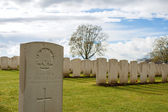 Cemetery great world war one flanders Belgium — Stockfoto
