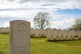 Cemetery great world war one flanders Belgium — Stock fotografie