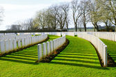 Cemetery great world war one flanders Belgium — Foto Stock