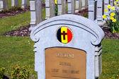 An unknown soldier died for belgium world war 1 — Stock Photo
