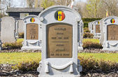 Headstone of unknown belgian soldier world war one — Stock Photo
