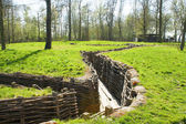Bayernwald Trenches world war one flanders Belgium — Stock Photo