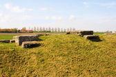 WW1 foxhole trench of death in Diksuimde Flanders Belgium — Stockfoto