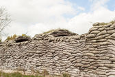 Trenches of death WW1 sandbag flanders fields Belgium — Stock Photo