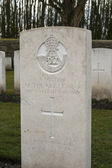 Headsstone grave unknown soldier world war one — Stock Photo