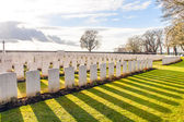 Soldier Cemetery world war one flanders Belgium — Stock fotografie