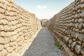 Trenches of death world war one sandbags in Belgium — Stock Photo