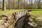 Bayernwald wooden trench of world war 1 — Stock Photo