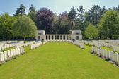 New British Cemetery world war 1 flanders fields — Stock Photo