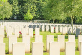New British Cemetery world war 1 flanders fields — Stock Photo