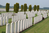 Bedford House Cemetery world war one Ypres Flander Belgium — Stock Photo
