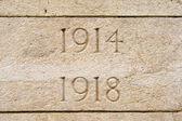 World war on 1914 1918 cemetery in flanders Belgium — Stock Photo