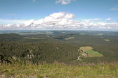 Panorama landscape view over black forest Germany — Stock Photo