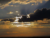 Sunset in the clouds — Stock Photo