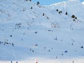 Ski slopes — Stock Photo