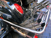 Motorcycle exhausts — Stock Photo
