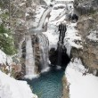 Waterfall in the snow — Stock Photo