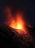 Stromboli Volcano Volcanic Eruption — Stockfoto