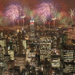 New york fireworks party — Stock Photo