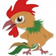 Indignant rooster — Stock Vector #12066596