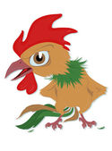 Indignant rooster — Stock Vector