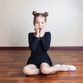 Girl gymnast — Stock Photo