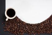 Coffee beans on white background — Stock Photo