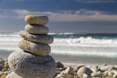 Balancing stones in nature — Stock Photo