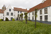White houses forming Beguinage in Belgium — Stock Photo