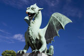 Dragon ljubljana (Zmajski most) — Stock Photo