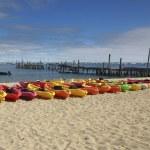 Line of Kayaks — Stock Photo