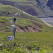 Stock Photo: Weather station in mountains
