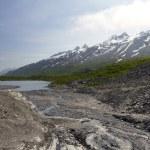 Scenic mountains in alaska — Stock Photo