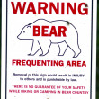 Bear warning — Stock Photo
