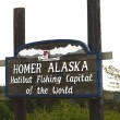 Stock Photo: Homer alaskhalibut fishing capital of world